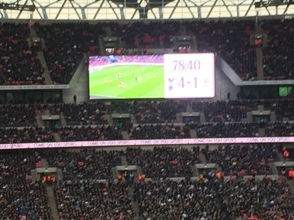 Wembley 10 scoreboard